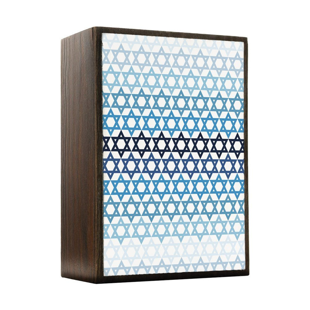 Primary image for Inspired Home Hanukkah - Gradient Pattern Box Sign Size 4x5.5