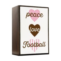 Inspired Home Peace, Love, Football Box Sign Size 4x5.5 - $14.70