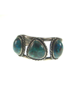 Vintage Native American Sterling Silver Turquoi... - $105.99