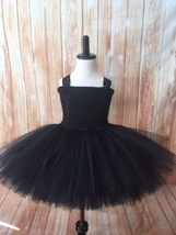 Black Tutu Dress, Girls Black Tutu, Black Flower Girl Tutu, Girls Black Dress - $40.00+