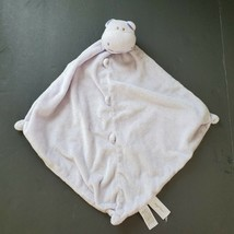 Baby Girl Angel Dear Hippo Pink Lovey Clutch Security Blanket Nunu  - $9.74