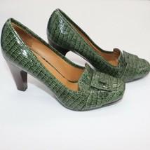 Nine West Women's Green Crocodile Heels Size 7 1/2 - $38.69