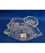 Mikasa Crystal Rocking Horse Bowl Dish 7.5 inches Christmas Germany Cele... - $4.99