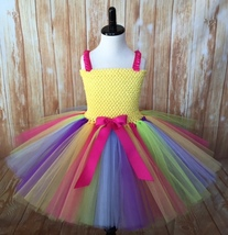 Rainbow Tutu Dress, Rainbow Tutu, Girls Rainbow Tutu Dress, Rainbow Part... - $40.00+