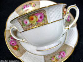 Rosenthal Painted Roses Cream Victorian's Tea Cup And Saucer Duo - $27.41