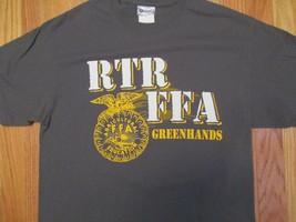 RTR FFA Greenhands Future farmers Farm Farming Agriculture T Shirt Size M - $11.99