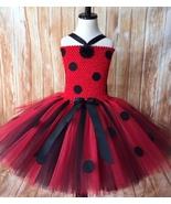 Ladybug Tutu Dress, Ladybug Tutu, Girls Ladybug Tutu, Girls Ladybug Dress - $40.00+