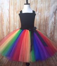 Rainbow Tutu Dress, Rainbow Tutu, Girls Rainbow Tutu Dress - $40.00+