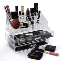Home-it Clear acrylic Jewelry organizer and makeup organizer cosmetic or... - $26.72