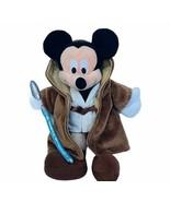 Mickey Mouse plush stuffed animal Star Wars jedi disneyland light saber ... - $19.25