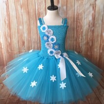 Snowflake Tutu Dress, Elsa Tutu Dress, Girls Christmas Tutu, Christmas Pageant T - $40.00+