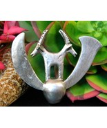 Vintage Double Ibex Gazelle Figural Brooch Pin ... - $39.95