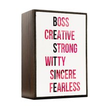 Inspired Home BESTIE - Watercolor Cherry Pop Box Sign Size 4x5.5 - $14.70
