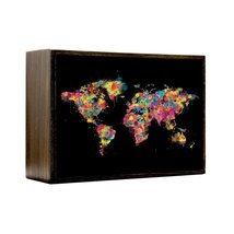 Inspired Home Painted World Box Sign Size 4x5.5 - $14.70