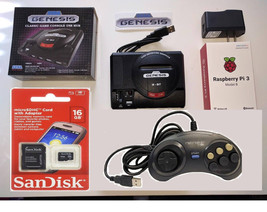 Raspberry Pi 3 mini Sega Genesis 16GB with Controller. Plays thousands o... - $129.99