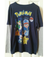 Pokemon Nintendo Boys Long Sleeve Top Shirt Size XL Navy & Gray - $14.99