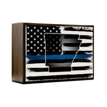 Inspired Home Thin Blue Line - Arkansas Box Sign Size 4x5.5 - $14.70