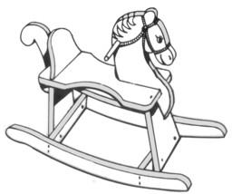 ROCKING HORSE  # 802 -  Woodworking / Craft Pat... - $4.65