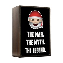 Inspired Home Santa - The Man, The Myth, The Legend Box Sign Size 4x5.5 - $14.70