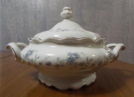Haviland Blue Garland Round Covered Casserole/Vegetable Bowl Bavarian Backstamp - $69.99