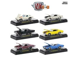 Detroit Muscle 6 Cars Set Release 41 IN DISPLAY CASES 1/64 Diecast Model Cars by - $49.94