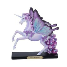 Pacific Giftware PT Official Rose Khan Lilac Butterfly Unicorn Resin Fig... - $49.49