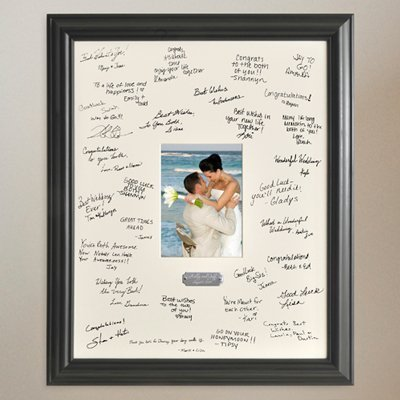 Personalized Gift - Wedding Wishes Signature Guest Book Picture Photo/Photograph