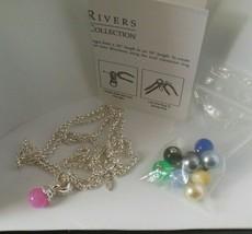 Joan Rivers Interchangeable Ten Color Bead Pendant Necklace - $64.35