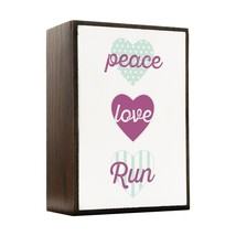 Inspired Home Peace, Love, Run Box Sign Size 4x5.5 - $14.70