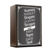 Inspired Home Herb List - Kitchen Box Sign Size 4x5.5 - $14.70