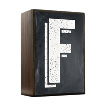 Inspired Home Alphabet Letters - F Box Sign Size 4x5.5 - $14.70