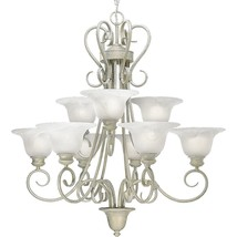 Venetian Gold Chandelier Progress Lighting P4045-18 Hand Painted 9 Light - $593.01