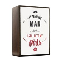 Inspired Home I Still Need My Girls - Red Box Sign Size 4x5.5 - $14.70