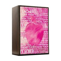 Inspired Home Apple Silhouette - Pink Watercolor Box Sign Size 4x5.5 - $14.70