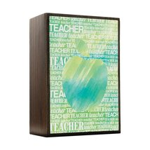 Inspired Home Apple Silhouette - Green Watercolor Box Sign Size 4x5.5 - $14.70