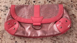 Clutch: Pink Metallic Faux Leather, Brighter Pi... - $10.00
