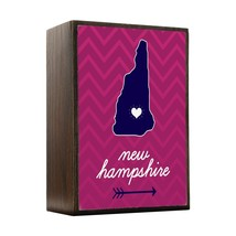 Inspired Home New Hampshire State Chevron Pattern Box Sign Size 4x5.5 - $14.70