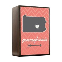 Inspired Home Pennsylvania State Chevron Pattern Box Sign Size 4x5.5 - $14.70