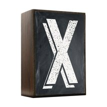 Inspired Home Alphabet Letters - X Box Sign Size 4x5.5 - $14.70