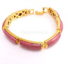 fashion1uk 18K Plaqué Or Rouge De luxe Bracelet 19.5cm - $17.69