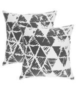 TreeWool, Soft Cotton Ikat Triangle Geometric Accent Decorative Throw Pi... - $14.99