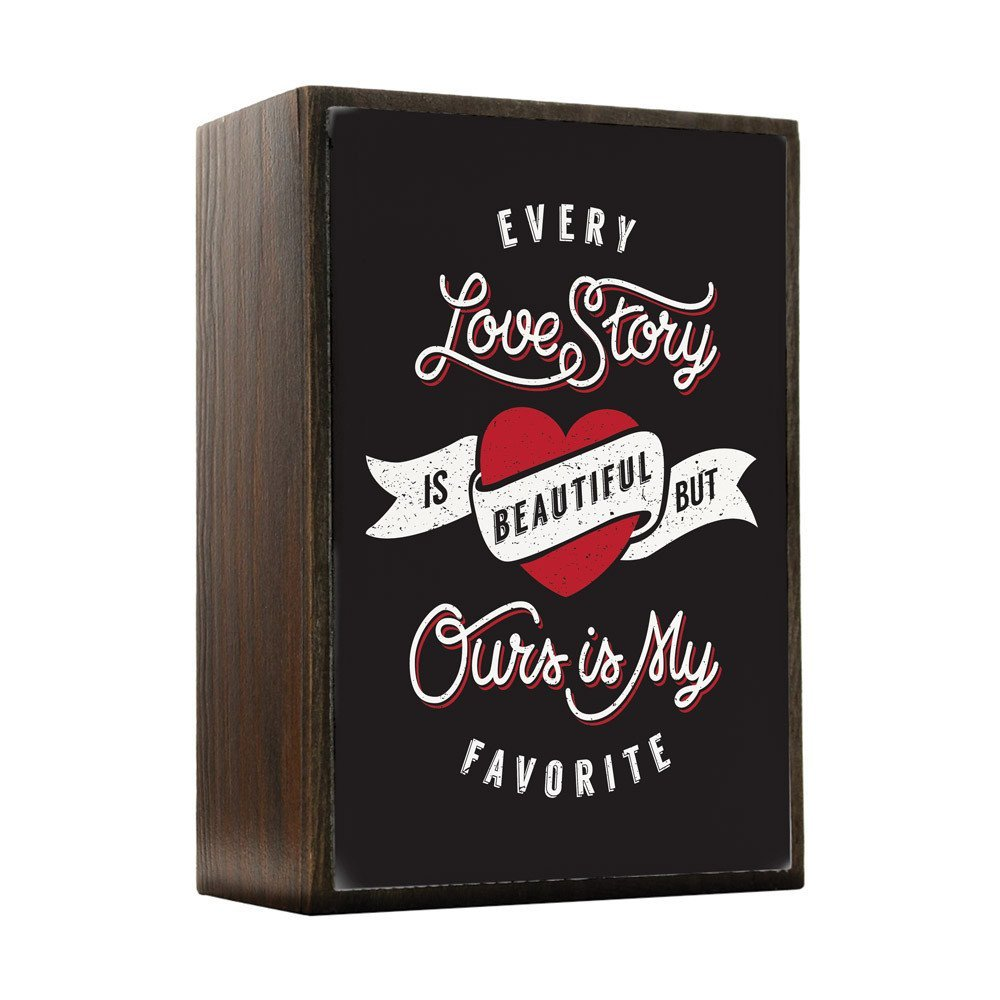 Inspired Home Our Love Story Box Sign Size 4x5.5 - $14.70