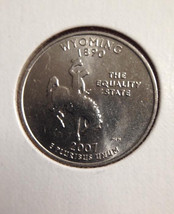 2007 D Wyoming State Quarter - $5.00