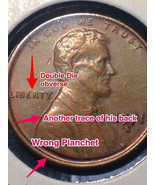 1971 S Lincoln Double Die Obverse and More Error Coin - $200.00
