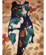 Anthropologie Blue Water Color 100% Silk Handke... - $74.99