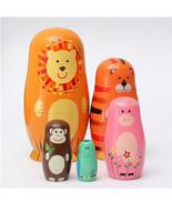 Set of 5 Cute Wooden Nesting Dolls Matryoshka A... - $22.75