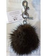 Coach Mink Fur Ball Pom Pom Charm Keychain Key ... - $64.00