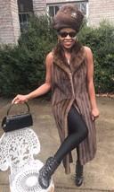 Mint Designer Full Length Lunaraine sable hue Mink Fur Vest Coat Jacket ... - $1,299.99