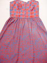 Kensie Prety Dress S Plaid Corset Upper Animal Print Skirt Spaghetti Mini - $18.95