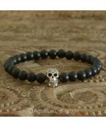 Stretch Bracelet 925 Sterling SILVER Skull ONYX... - $38.76